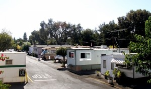 Trailer homes at the Buena Visa Mobile Home Park. Photo taken Sept. 12, 2012, by Veronica Weber/Palo Alto Online.